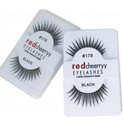 Red cheerryy RZĘSY na pasku NATURALNE 100% subtelne 102