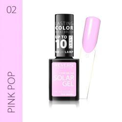 REVERS SOLAR GEL lakier solarny Efekt lakieru hybrydowego 10DNI TRWAŁOŚCI 02 PINK POP