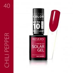REVERS SOLAR GEL lakier solarny Efekt lakieru hybrydowego 10DNI TRWAŁOŚCI 40