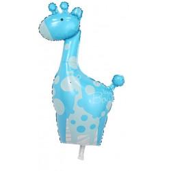 BALONY FOLIOWE BABY SHOWER IT' S A BOY żyrafa niebieska na powietrze