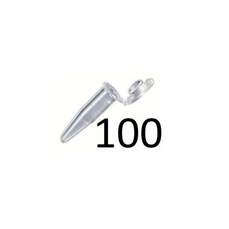 100x FIOLKA Probówka Eppendorf 1,5ml z podziałka 100 sztuk